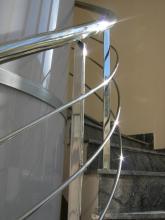Barandilla de acero inox con curva