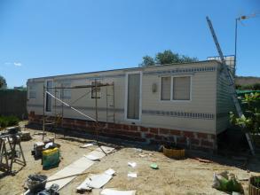 Aspecto casa prefabricada antes de la reforma