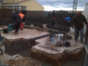 Ejecución de cimentación por zapatas aisladas