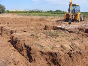 escavacion  de para la  cimentacion
