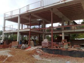 Fase de construcción de Estructura de la vivienda.