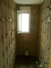 Se picaron las paredes y se desescombro el aseo