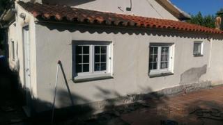 fachada con pared de 14cm de espesor