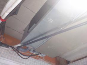 unidad interior instalada en aseo