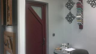 puerta diseño en PVC Ral 3005