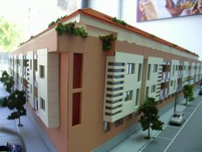Construccion de 256 viviendas en Valdepeñas, 200 trasteros, aparcamiento subterraneo y piscina.
